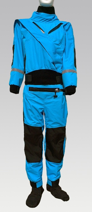 front diagonal enter zipper full dry suit