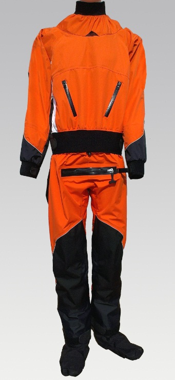 back diagonal enter zipper full dry suit